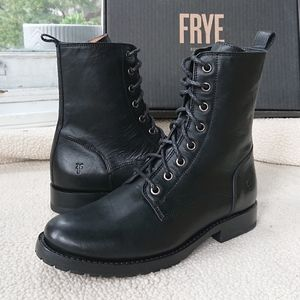 """Frye """"Natalie Lace Up"""" Leather Combat Boot"""